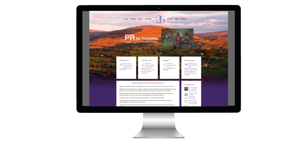 Pr website design