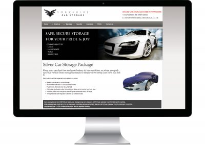Yorkshire Car Storage Website