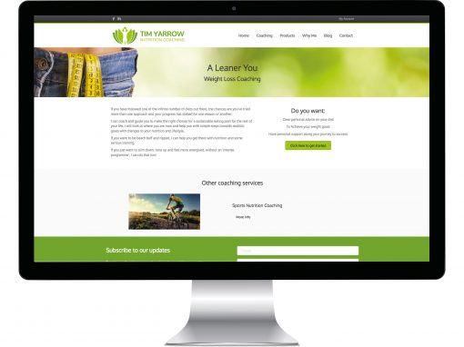 Fitness Website Design